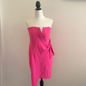 NWOT DO+BE Pink Strapless Dress